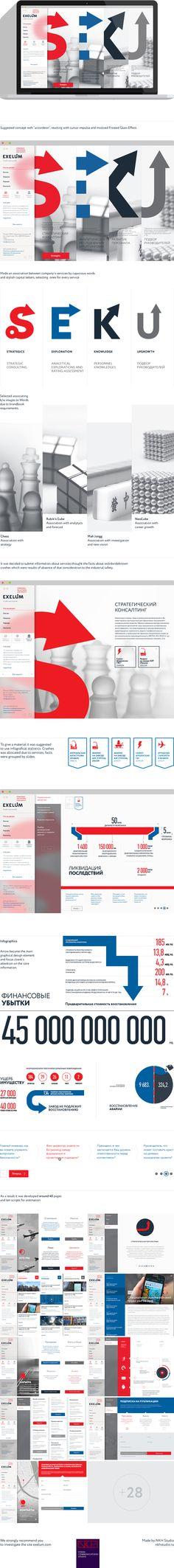 EXELUM by Nazir Khasavov, #web #webdesign #website