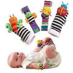 4Pcs Lovely Animal Baby Infant Kids Rattles Finders Glove Toys Hand Foot Socks Set - Banggood Mobile