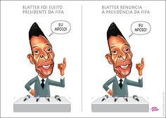 Pelé apoia Blatter eleito... Pelé apoia Blatter após renúncia...