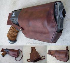 Nerf Maverick Custom Leather Holster by ~M1K3RU on deviantART