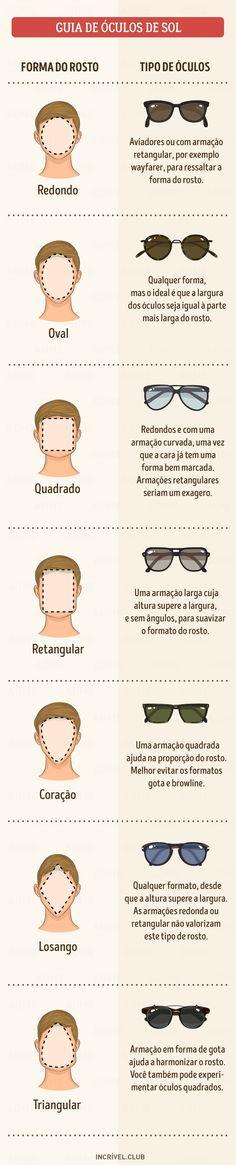 58647ccd90f25 Os óculos de sol são um acessório indispensável. Infelizmente, muitas  pessoas não sabem muito bem como escolher os que melhor combinam com os  seus rostos.