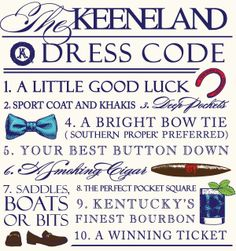 Keeneland Dress Code for men from Southern Proper   Lexington, KY