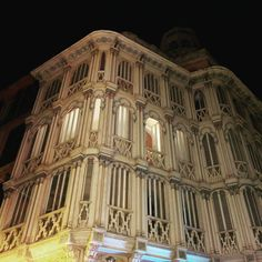 Palma by night is beautiful. #architecture #palma #mallorca #artnouveau