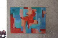 Elise Blaha :: enJOY it.: abstract art for over the mantle.