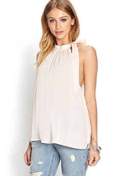 Self-Tie Halter Top | FOREVER 21 - 2000062652