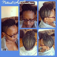Photo by natural_hair_creations flat twists kinky pompodour style