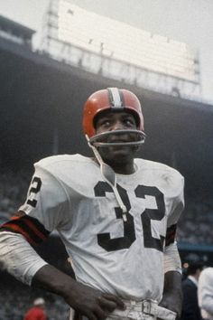 "James Nathaniel ""Jim"" Brown (born 2/17/36, Saint Simons Island, GA) is a former professional football player & actor. He is best known for his exceptional & record-setting 9-year career as a running back for the Cleveland Browns from 1957 to 1965. In 2002, he was named by Sporting News as the greatest professional football player ever. Brown's memorable professional career led to his induction into the Pro Football Hall of Fame in 1971."