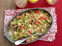 Quinoa Pilaf recipe from Giada De Laurentiis via Food Network - Paired with Pork Tenderloin Sandwiches Giada Recipes, New Recipes, Cooking Recipes, Healthy Recipes, Favorite Recipes, Simple Recipes, What's Cooking, Summer Recipes, Giada De Laurentiis