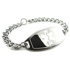 MyIDDr - Bariatric Surgery Medical Bracelet, PRE-ENGRAVED *** FIND OUT @ http://www.ilikeboutique.com/boutique/myiddr-bariatric-surgery-medical-bracelet-pre-engraved/?b=1932