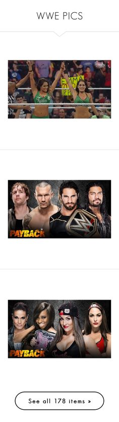 """""""WWE PICS"""" by wwetnagirl ❤ liked on Polyvore featuring the bella twins, wwe, brie bella, divas, home, home decor, wwe stars, seth rollins, seth and tops"""
