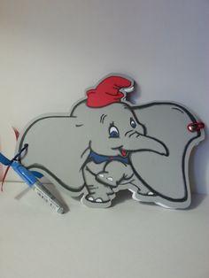 Dumbo Disney Autograph Book with Sharpie  Boy Girl Handmade