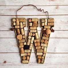 Wine cork monograms from the True Vine Gifts Etsy shop!