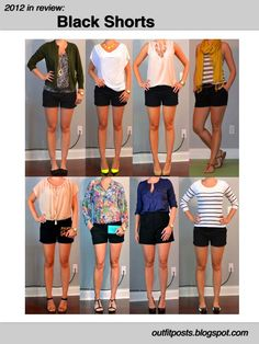 Outfit Posts: 2012 in review - outfit posts: black shorts