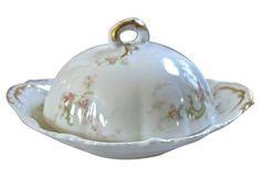 Limoges Butter Dish w/ Drainer, 2 Pcs