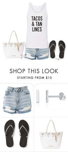 """""""Tacos & Tan Lines"""" by mandyjeanb87 on Polyvore featuring Topshop, Aéropostale and Betsey Johnson"""