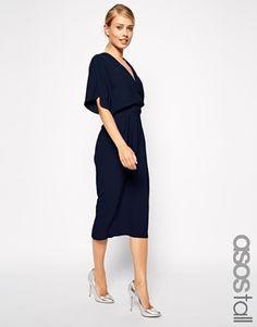 Enlarge ASOS TALL Midi Dress With Obi Belt