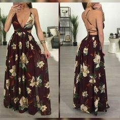 Vestido longo Hot Outfits, Classy Outfits, Beautiful Outfits, Spring Outfits, Girl Outfits, 21st Dresses, Cute Dresses, Casual Dresses, Fashion Dresses