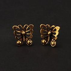 Fashion Bronze Butterfly Shape Stud Earring(1 Pair) - buy for USD0.99