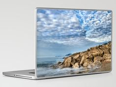 Rocks and Clouds Seascape Laptop & iPad Skin by Alice Gosling - $30.00