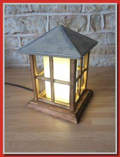 Handmade Wooden Lantern Table Lamp Decorative Light Handmade House Cabin Shabby Chic Cottage Home Decor Handmade Lanterns, Wooden Lanterns, Vintage Lanterns, Handmade Lamps, Table Lamp Wood, Wood Lamps, Table Lamps, Handmade Home Decor, Handmade Wooden