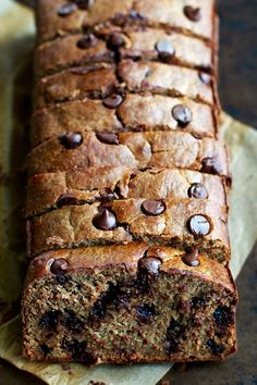 This Flourless Chocolate Chip Banana Bread is made with NO flour, butter, or oil, but so soft, tender, and flavourful that you'd never be able to tell!   runningwithspoons.com
