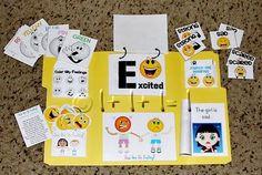 Feelings Tot Book - extensive fun learning about feelings book and ideas! Preschool Curriculum, Preschool Learning, Toddler Preschool, Preschool Activities, Teaching Kids, Kindergarten, Alphabet Activities, Learning Tools, Fun Learning
