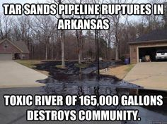 Republicans have been saying that the XL Keystone pipeline would create tons of jobs in America. They may be on to something ... who's going to clean all this toxic waste up?    See. They're crazy as a fox! Coming to a neighborhood near you.
