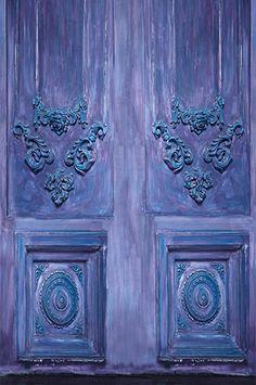 6773 Elegant Purple Blue Abstract Doors Printed Backdrop