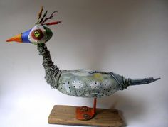 oiseau,assemblage,art,singulier,contemporain,gerard collas,sculpture