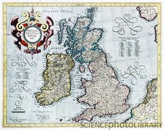 Map of the British Isles c. 1595 from work by Gerard Mecator