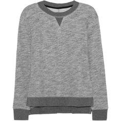 Rag & bone Georgia cotton-jersey sweatshirt ($88) ❤ liked on Polyvore featuring tops, hoodies, sweatshirts, sweaters, shirts, sweatshirt, rag & bone, grey, jersey top and gray top