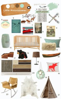 woodland/adventure/mountaineer nursery from Project Bambino Baby Boy Rooms, Baby Boy Nurseries, Baby Room, Nursery Themes, Nursery Decor, Nursery Ideas, Woodland Nursery Boy, Rustic Nursery, Cabin Nursery