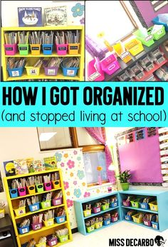 Do you feel like you are ALWAYS staying late after school to work on lesson planning and prep work? Learn how to organize your week and streamline your lesson planning routine so that you can go home at a normal time! Classroom Hacks, Classroom Organisation, New Classroom, Teacher Organization, Classroom Design, Classroom Management, Classroom Decor, Organized Teacher, Organizing
