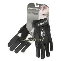 Easton Magnum Series Youth Baseball Softball Batting Glove - Color: Black, Size: Large