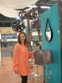 Gilda Rabinovitz representing Arteriors at the Mexico International Furniture Market 2012.