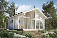 This Comfortable Tiny House Design (with Plans) Small Tiny House, Tiny House Plans, Tiny House Design, Tyni House, Studio Shed, Tiny House Nation, Vintage House Plans, Modular Homes, Big Houses