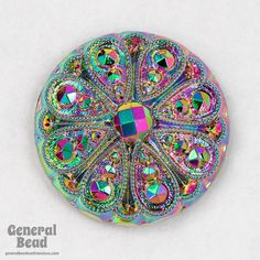 23mm Electra Carnival Glass Cabochon FGA087 by GeneralBead on Etsy