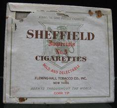 Vintage-1910-039-s-Tobacco-Cigarette-Box-Sheffield-No-5