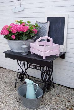 sewing machine table...