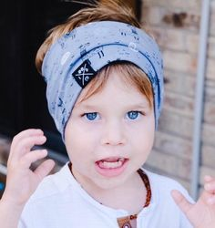 474f2f35028 Blue llama and cactus baby boy headband