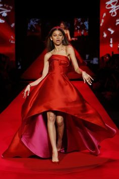 Zendaya in the Heart Truth Red Dress RTW Fall 2015. [Photo by George Chinsee]