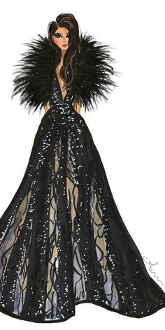 Fashion Illustration Print Elie Saab by Anum Tariq