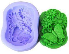 Pastorale Butterfly jabón del silicón del molde DIY vela moldeo arte hechos a mano adornos artesanales de decoración moldes moldes DIY 3D(China (Mainland))