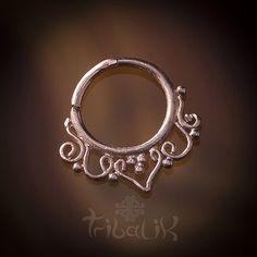 CINTA FILIGREE Rose Gold Plated Septum Ring For por TRIBALIK