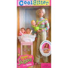 Barbie Cool Sitter TEEN SKIPPER Doll w 4 Babies Quadruple the Babysitting Fun (1998) >>> You can find out more details at the link of the image. (This is an affiliate link) #DollsAccessories