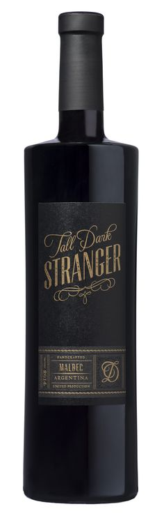 Tall, Dark, Stranger, Wine Packaging Design by Cult Partners. www.cultpartners.com