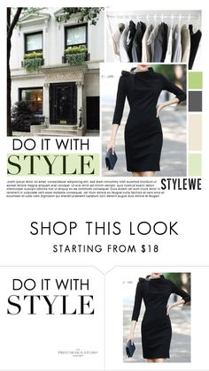 """""""Black Sheath Mini Dress from StyleWe"""" by pinki1994 ❤ liked on Polyvore featuring Zara and stylewe"""
