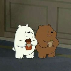 Polar y Pardo Ice Bear We Bare Bears, We Bear, Cute Disney Wallpaper, Cute Cartoon Wallpapers, Kalender Design, We Bare Bears Wallpapers, Japon Illustration, Cartoon Profile Pictures, Bear Wallpaper