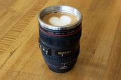 """""""These mugs are a fun gift for my fellow photographers. They seem to be all over the place here in the halls of Adobe. Canon Camera Lens Mugs."""" Bob Gager  #ElementsWishList"""