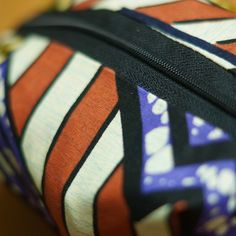 Mesh Make up bag with Ankara African print - www.laurajanefashion.co.uk